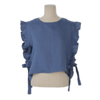 Frilled Side Tie Vest
