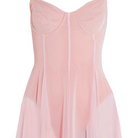 Norma Kamali - Stretch-tulle swimsuit