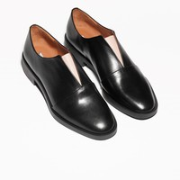& Other Stories | Slip-On Leather Flats | Black