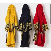 Versace Men Women Bathrobe