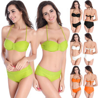 2016 sexy Bikini Unique line swimwear Women Swimwear underwire Swimsuit Bathing Suits Swim Suits M-4XL