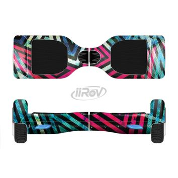 The Grungy Neon Triangular Zig Zag Shapes Full Body Skin Set for the Smart Drifting SuperCharged Transportation iiRov