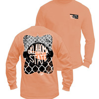 Long Sleeve Orange OSU-Comfort Colors