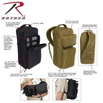 Tactical Single Sling Pack With Laser Cut