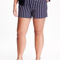 """Old Navy Mid Rise Printed Plus Size Canvas Shorts 5"""""""