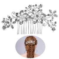 Wedding Party Bridal Pearls Decor Flower Hairpin Hair Decoration