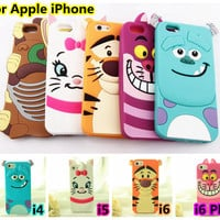 For iphone 5 5s 6 6s 6 Plus 6Plus 4 4s Cute 3D Cartoon Monsters University Inc. Sulley Marie Alice slinky dog Cover Soft Cases