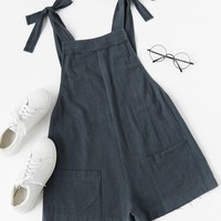 """When We Were Young"" Tie Sleeve Romper"