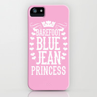 Barefoot Blue Jean Princess iPhone & iPod Case by LookHUMAN