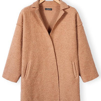 'The Scarlett' Brown Long Sleeve Woolen Coat