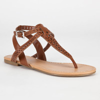 City Classified Thetop Womens Sandals Cognac  In Sizes