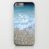 Sea, Air & Sun iPhone & iPod Case by Deadly Designer