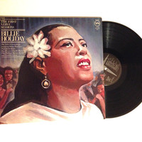 OCTOBER SALE Vinyl Record Billie Holiday The First Verve Sessions LP Albums Moonglow Autumn In New York 1976