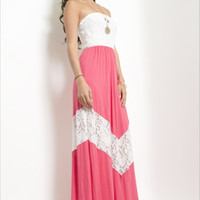 All The Ways To My Heart In Coral Maxi - CLOSEOUT