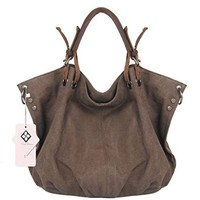 Tom Clovers Women's Men's Canvas Oversized Hobo Shoulder Weekender Crossbody Bag