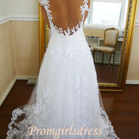 Hot Long Balll Gown Lace Wedding Dress, Wedding Gowns, Formal Dresses