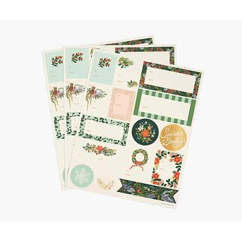 Winter Floral Stickers & Labels