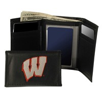 University of Wisconsin Badgers Trifold Leather Wallet (Red)
