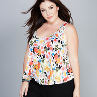 Soft Tropical Floral Tank | Wet Seal+