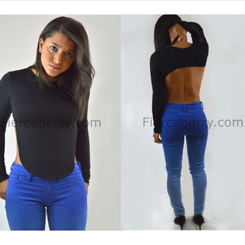 Long Sleeve top with exposed back