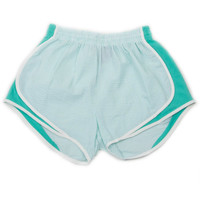 LAUREN JAMES SEERSUCKER SHORTIES - MINT