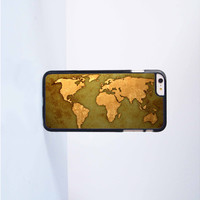 World Map Plastic Case Cover for Apple iPhone 6 Plus 4 4s 5 5s 5c 6