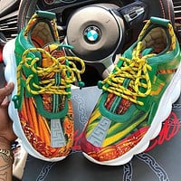 VERSACE chain reaction Multicolor Sneakers Stitching Sports Leisure Shoes