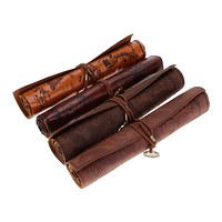 Vintage Treasure Map Roll Pencil Case Bag Pen School Pouch Large Stationery New
