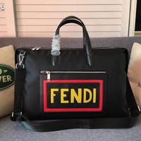 Fendi Men And Women Canvas Travel Bag