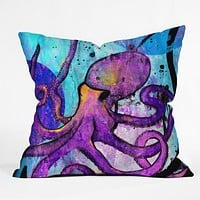 Sophia Buddenhagen Purple Octopus Throw Pillow