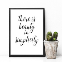 Beauty in Simplicity, Fashion Art, Printable Wall Art, Home decor, gallery wall, home poster, apartment decor, digital download, printables