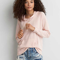 AEO Washed Classic Hoodie, Pink