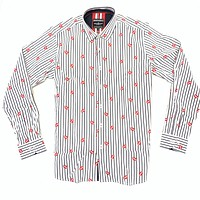 Barabas French Lips White Button Up Shirt