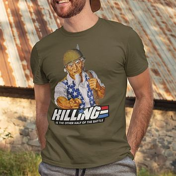 Killing is the Other Half of the Battle Uncle Sam Short-Sleeve Unisex T-Shirt