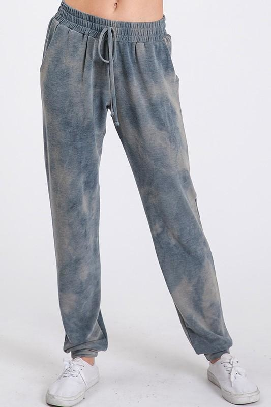 Image of Tie Dye Jogger Pant - Teal Blue