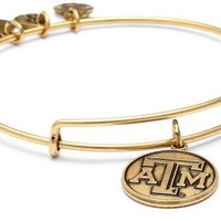 "Alex and Ani ""Collegiate"" University of Texas A&M Logo Expandable Rafaelian Gold Finish Wire Bangle Bracelet"
