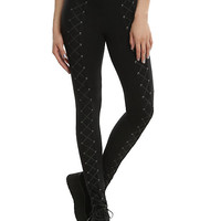 Blackheart Lace-Up Leggings