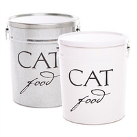 Classic Cat Food Storage Canister | Silver