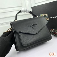 940 Prada Double Shoulder Strap Flap Bag Fashion Frame Bag 22-16-5cm