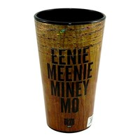 JUST FUNKY 16oz OFFICIAL AMC The Walking Dead EENIE MEENIE MINEY MO Wood Textured printed Pint Glass Novelty GIFT