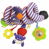 Free Shipping Baby Toy Plush Multipurpose Bed Circle Round with Sound Paper & Mirror Caterpillar & Bird Baby Girl Boy Toys Gift