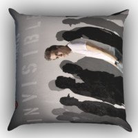 hunter hayes invisible Z1551 Zippered Pillows  Covers 16x16, 18x18, 20x20 Inches