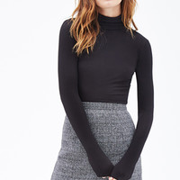 FOREVER 21 Ribbed Turtle Neck Top
