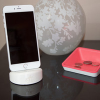 iPhone Charging Station – iPhone6 and iPhone6S – BIODEGRADABLE PLA Plastic – Made Using 3-D Printing Technology – Travel Accessory iPhone