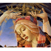 The Madonna of the Magnificat, Detail of the Virgin's Face and Crown, 1482 Giclee Print by Sandro Botticelli at Art.com