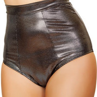 Gunmetal Metallic High Waisted Shorts