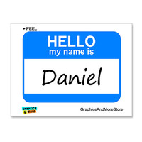 Daniel Hello My Name Is Sticker
