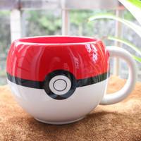 Cute Pokemon Ball Figural Ceramic Mug Pokemon Hand grip Anime