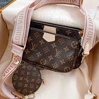 LV Louis Vuitton Multi Pochette Accessoires Three-in-One Mahjong Bag Three-piece Set