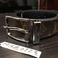 LOUIS VUITTON M6069 PONT NEUF BROWN MONOGRAM SZ 95/38 DESIGNER BELT SPAIN